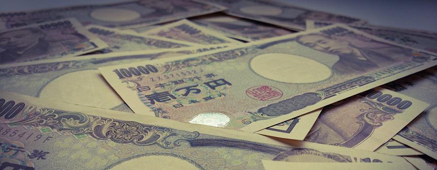 1万円札が散らばっている様子